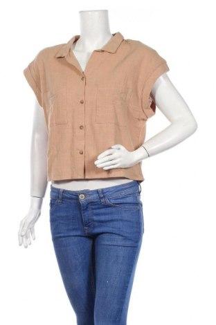 Дамска риза Cotton On, Размер L, Цвят Кафяв, Памук, Цена 21,12лв.