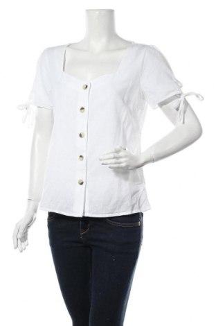 Дамска риза Dorothy Perkins, Размер M, Цвят Бял, 87% памук, 13% лен, Цена 30,87лв.