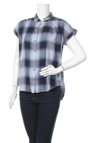 Дамска риза Eddie Bauer, Размер S, Цвят Син, 57% вискоза, 27% памук, 16% лиосел, Цена 29,40лв.