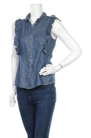 Дамска риза Gaudi Jeans, Размер M, Цвят Син, 50% памук, 50% лиосел, Цена 56,07лв.