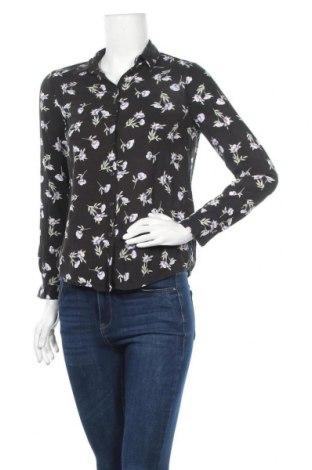 Дамска риза Gina Tricot, Размер XS, Цвят Черен, Вискоза, Цена 11,88лв.