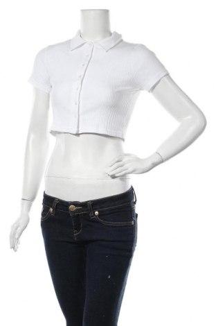 Дамска риза Glamorous, Размер M, Цвят Бял, 92% полиестер, 8% еластан, Цена 23,40лв.