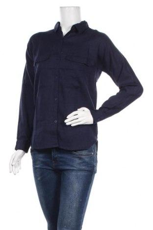 Дамска риза Jennyfer, Размер XXS, Цвят Син, Памук, Цена 8,74лв.