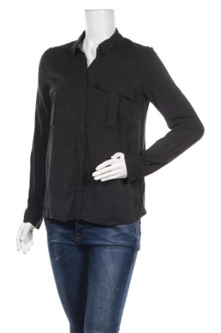 Дамска риза Jennyfer, Размер S, Цвят Черен, Вискоза, Цена 9,66лв.