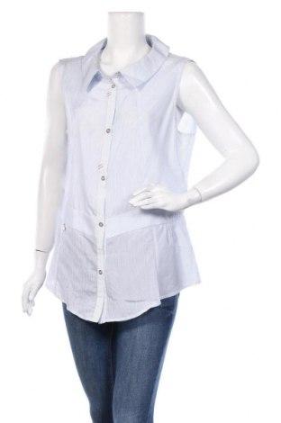 Дамска риза La Mode Est A Vous, Размер XL, Цвят Син, 77% вискоза, 23% полиамид, Цена 22,10лв.