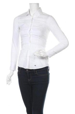 Дамска риза Le Phare De La Baleine, Размер S, Цвят Бял, 72% памук, 25% полиамид, 3% еластан, Цена 40,29лв.