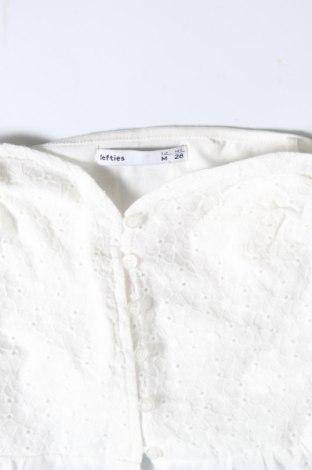 Дамска риза Lefties, Размер M, Цвят Бял, 100% памук, Цена 16,90лв.