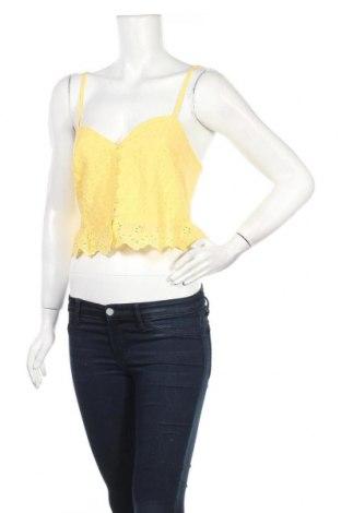 Γυναικείο πουκάμισο Lefties, Μέγεθος M, Χρώμα Κίτρινο, 100% βαμβάκι, Τιμή 5,76€