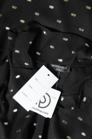 Дамска риза Mademoiselle A Paris, Размер M, Цвят Черен, 92% вискоза, 8% еластан, Цена 12,98лв.