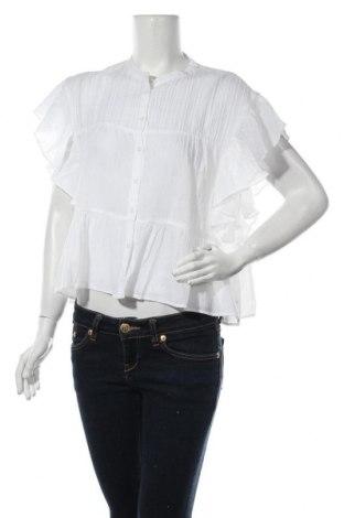 Дамска риза Mango, Размер L, Цвят Бял, Памук, Цена 26,40лв.