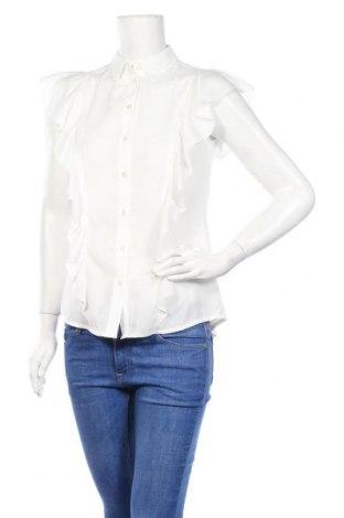 Дамска риза Nife, Размер S, Цвят Бял, 98% полиестер, 2% еластан, Цена 31,85лв.