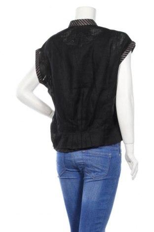 Дамска риза Nitya, Размер M, Цвят Черен, Лен, Цена 57,85лв.