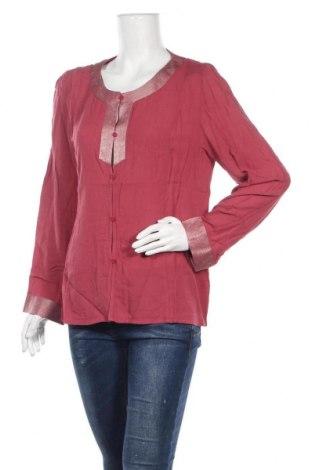 Дамска риза Nitya, Размер M, Цвят Червен, Вискоза, Цена 22,25лв.
