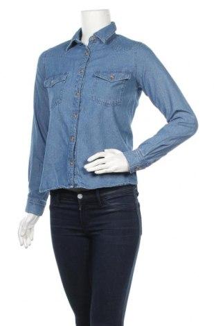 Дамска риза Pull&Bear, Размер XS, Цвят Син, Цена 20,25лв.