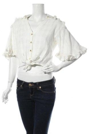 Дамска риза River Island, Размер M, Цвят Екрю, Полиестер, Цена 31,85лв.