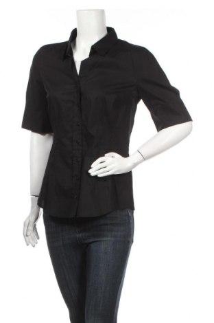 Дамска риза Seidensticker, Размер L, Цвят Черен, 97% памук, 3% еластан, Цена 27,60лв.