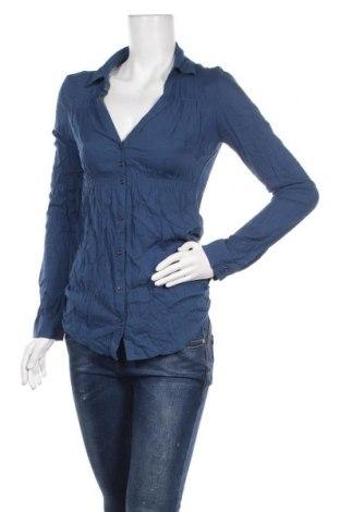 Дамска риза Tally Weijl, Размер S, Цвят Син, Вискоза, Цена 18,90лв.