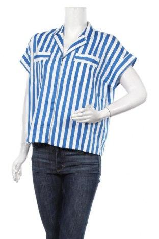 Дамска риза Y.A.S, Размер M, Цвят Син, Полиестер, Цена 27,30лв.