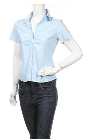 Дамска риза Zabaione, Размер M, Цвят Син, 66% памук, 30% полиестер, 4% еластан, Цена 22,80лв.