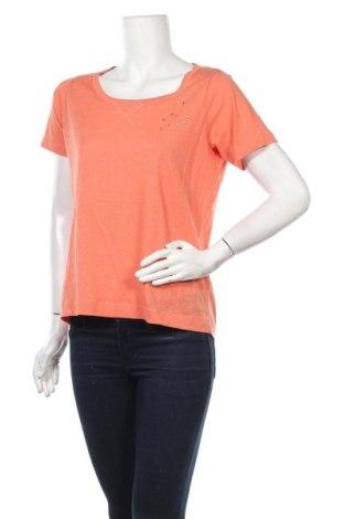 Дамска тениска Essentiel Antwerp, Размер M, Цвят Розов, 70% памук, 30% лен, Цена 18,85лв.