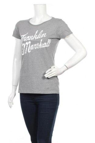 Дамска тениска Franklin & Marshall, Размер L, Цвят Сив, Памук, Цена 29,60лв.