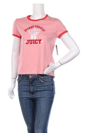 Дамска тениска Juicy Couture, Размер M, Цвят Розов, 58% памук, 42% полиестер, Цена 38,40лв.