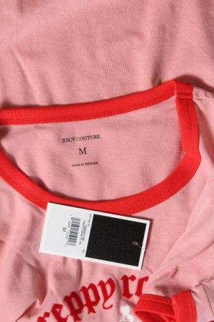 Дамска тениска Juicy Couture, Размер M, Цвят Розов, 58% памук, 42% полиестер, Цена 37,12лв.