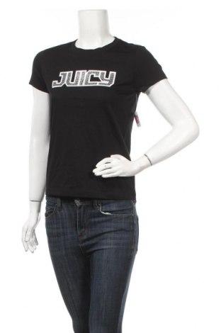Дамска тениска Juicy Couture, Размер S, Цвят Черен, 60% памук, 40% полиестер, Цена 38,35лв.