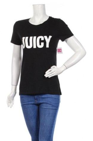 Дамска тениска Juicy Couture, Размер S, Цвят Черен, 60% памук, 40% полиестер, Цена 37,12лв.