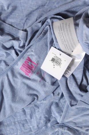 Дамска тениска Juicy Couture, Размер M, Цвят Син, 53% памук, 47% полиестер, Цена 42,90лв.