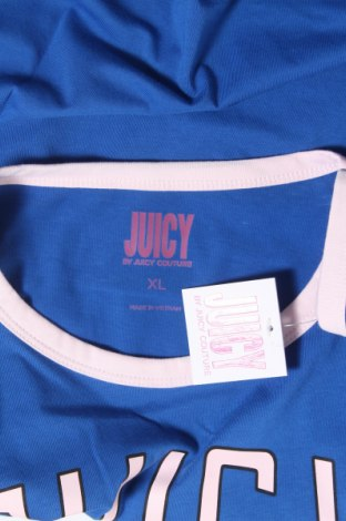 Дамска тениска Juicy Couture, Размер XL, Цвят Син, 60% памук, 40% полиестер, Цена 13,20лв.