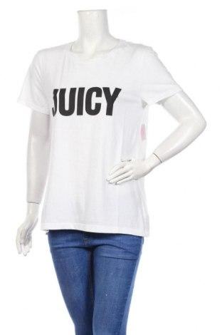 Дамска тениска Juicy Couture, Размер L, Цвят Бял, 60% памук, 40% полиестер, Цена 41,60лв.