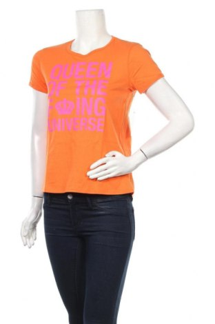 Дамска тениска Juicy Couture, Размер L, Цвят Оранжев, Памук, Цена 37,40лв.