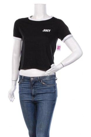 Дамска тениска Juicy Couture, Размер S, Цвят Черен, 60% памук, 40% полиестер, Цена 34,80лв.