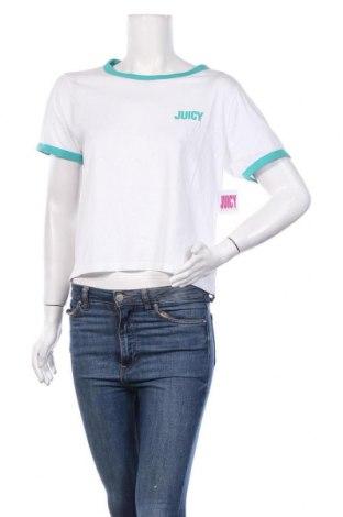 Дамска тениска Juicy Couture, Размер L, Цвят Бял, 60% памук, 40% полиестер, Цена 31,90лв.