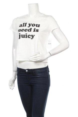 Дамска тениска Juicy Couture, Размер S, Цвят Бял, 100% памук, Цена 35,20лв.