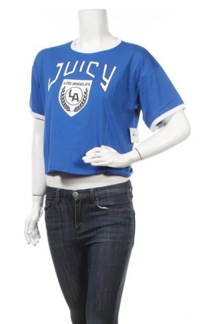 Дамска тениска Juicy Couture, Размер S, Цвят Син, 60% памук, 40% полиестер, Цена 13,20лв.
