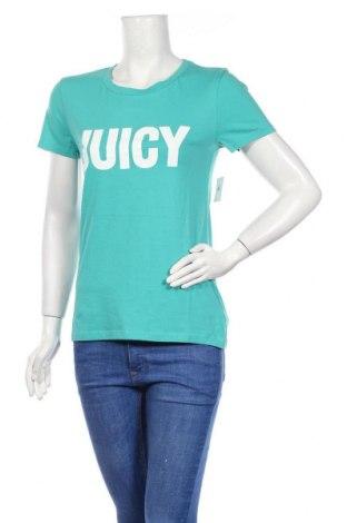 Дамска тениска Juicy Couture, Размер S, Цвят Зелен, 60% памук, 40% полиестер, Цена 37,12лв.