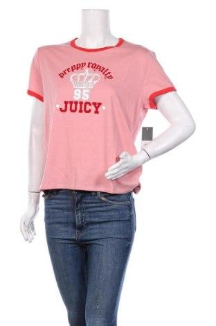 Дамска тениска Juicy Couture, Размер XL, Цвят Розов, 58% памук, 42% полиестер, Цена 37,12лв.