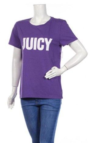 Дамска тениска Juicy Couture, Размер L, Цвят Лилав, 60% памук, 40% полиестер, Цена 41,60лв.