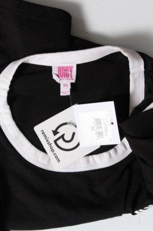 Дамска тениска Juicy Couture, Размер XS, Цвят Черен, 60% памук, 40% полиестер, Цена 31,90лв.