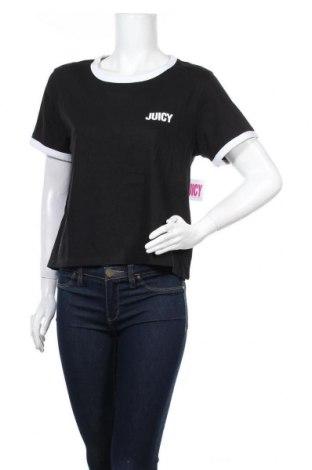 Дамска тениска Juicy Couture, Размер L, Цвят Черен, 60% памук, 40% полиестер, Цена 33,64лв.