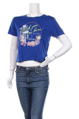 Дамска тениска Juicy Couture, Размер M, Цвят Син, 60% памук, 40% полиестер, Цена 41,60лв.