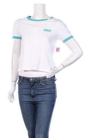 Дамска тениска Juicy Couture, Размер S, Цвят Бял, 60% памук, 40% полиестер, Цена 34,80лв.