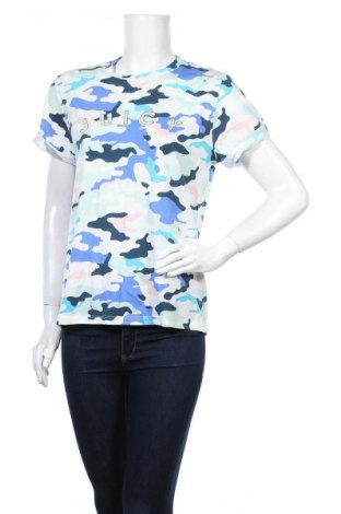Дамска тениска Juicy Couture, Размер M, Цвят Многоцветен, 58% памук, 42% полиестер, Цена 37,12лв.