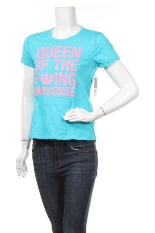 Дамска тениска Juicy Couture, Размер M, Цвят Син, Памук, Цена 44,20лв.