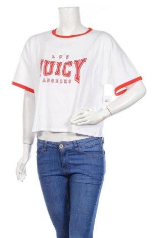 Дамска тениска Juicy Couture, Размер L, Цвят Бял, 60% памук, 40% полиестер, Цена 46,50лв.