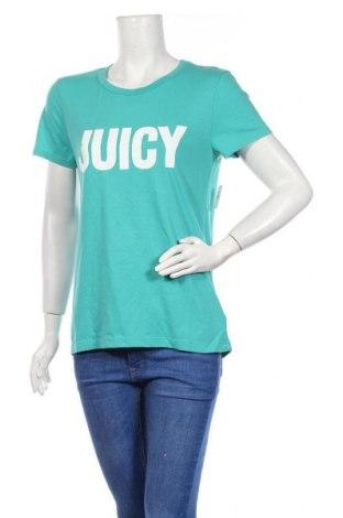 Дамска тениска Juicy Couture, Размер M, Цвят Зелен, 60% памук, 40% полиестер, Цена 37,12лв.