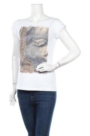 Дамска тениска Le Phare De La Baleine, Размер M, Цвят Бял, 94% памук, 6% еластан, Цена 39,00лв.