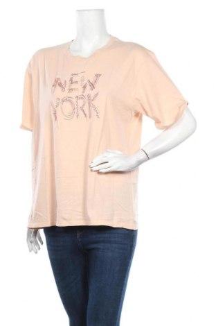 Дамска тениска Mango, Размер L, Цвят Розов, Памук, Цена 21,42лв.